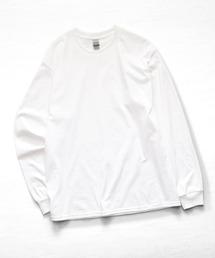 ギルダン ビッグシルエット USA ロングスリーブ Tシャツ カットソー 無地T トップス Tシャツホワイト