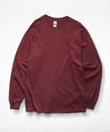 ギルダン ビッグシルエット USA ロングスリーブ Tシャツ カットソー 無地T トップス Tシャツマルーン