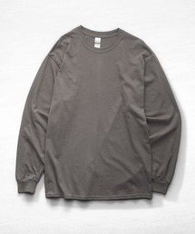 ギルダン ビッグシルエット USA ロングスリーブ Tシャツ カットソー 無地T トップス Tシャツチャコールグレー