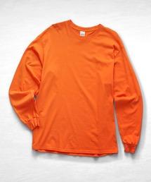 ギルダン ビッグシルエット USA ロングスリーブ Tシャツ カットソー 無地T トップス Tシャツオレンジ
