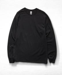 ギルダン ビッグシルエット USA ロングスリーブ Tシャツ カットソー 無地T トップス Tシャツブラック