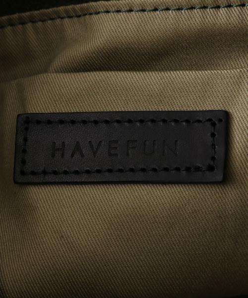 HAVEFUN スエード巾着ショルダーバッグ
