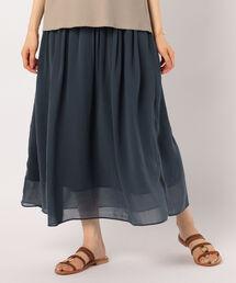 7a5dc60b18279 NOLLEY S WOMEN S(ノーリーズウィメンズ)の「シフォンギャザーマキシスカート(スカート)」