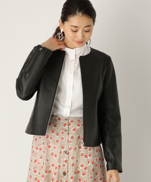 【GINGER掲載商品】 レザークルーネックジャケット 843994(その他アウター) LEPSIM(レプシィム)のファッション通販, INVENTER:075c536b --- blog.buypower.ng