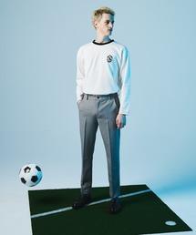 ポンチローマ オーバーサイズ 切り替え Footballロゴカットソー L/S (EMMA CLOTHES)ホワイト