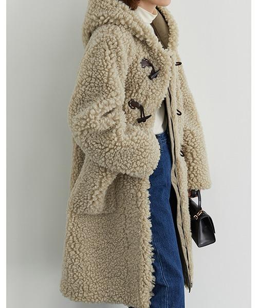 【Fano Studios】【2021AW】Fake boa duffle coat FD20W089