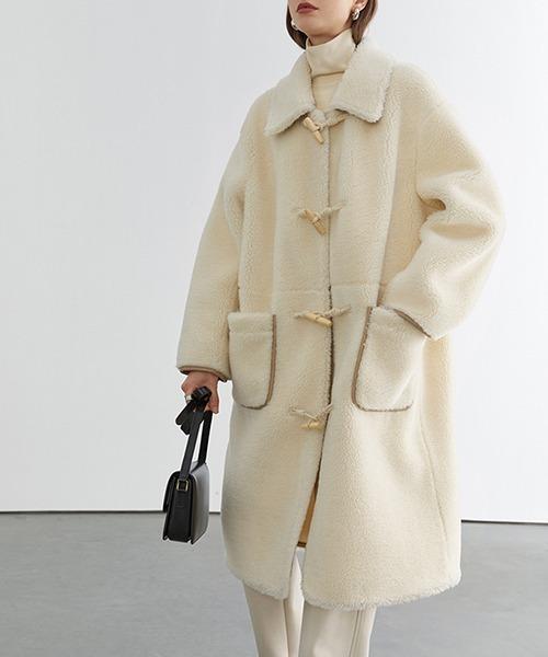 【Fano Studios】【2021AW】Horn buckle fur duffle coat FD20W237