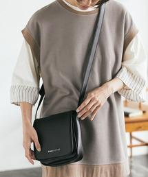 シンセティックレザー スクエア フラップ ミニ ショルダーバッグ EMMA CLOTHES 2021 A/Wブラック