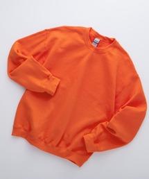 ギルダン USA ビッグシルエット ロングスリーブプルオーバークルースウェット(裏起毛)オレンジ