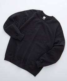 ギルダン USA ビッグシルエット ロングスリーブプルオーバークルースウェット(裏起毛)ブラック