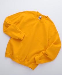 ギルダン USA ビッグシルエット ロングスリーブプルオーバークルースウェット(裏起毛)ゴールド