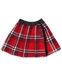 BREEZE(ブリーズ)のラップ風チェックスカート(スカート)