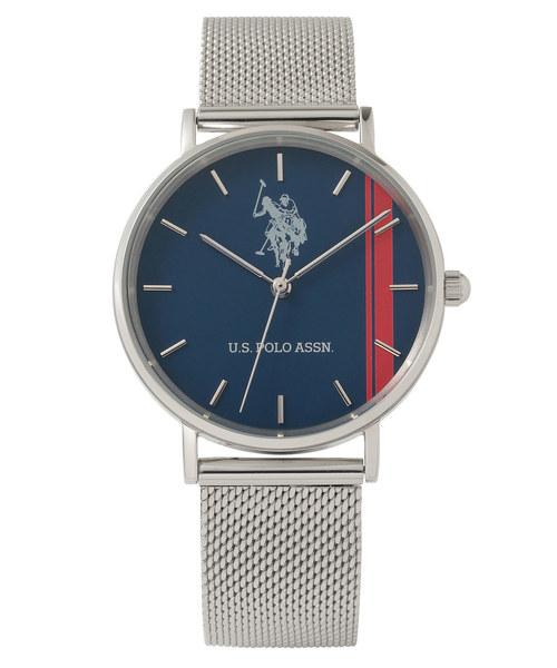 U.S. POLO ASSN.(ユーエスポロアッスン)の「【U.S. POLO ASSN.】ユーエスポロアッスン 腕時計 メッシュベルト 36mm クォーツ(腕時計)」|ネイビー