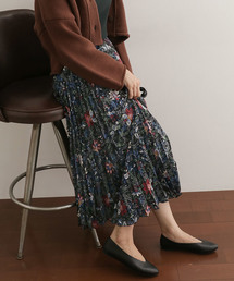 URBAN RESEARCH DOORS(アーバンリサーチドアーズ)のフラワープリントプリーツスカート(スカート)