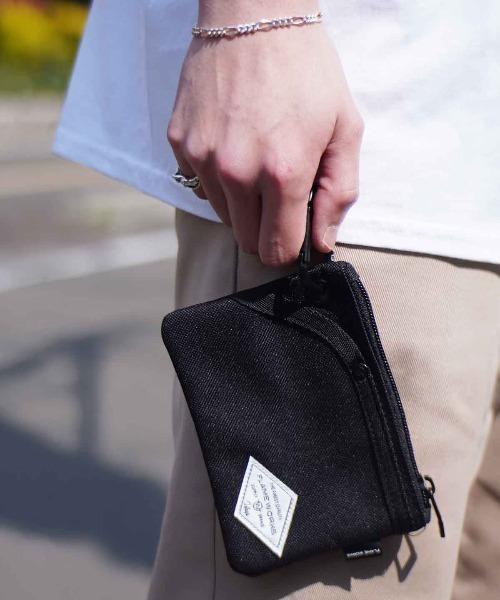 Port(ポート)の「【FLAME WORKS / フレイムワークス】カラビナ付き コインケース 財布(コインケース/札入れ)」|ブラック