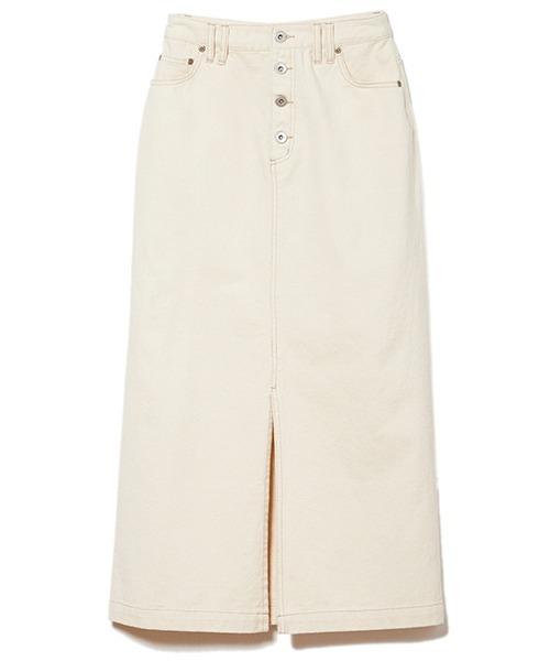 DRWCYS(ドロシーズ)の「Aラインデニムスカート(デニムスカート)」 ホワイト