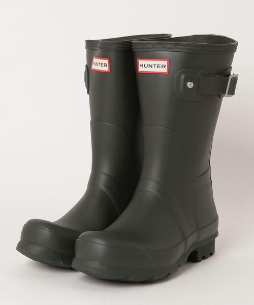 【 HUNTER / ハンター 】MENS ORIGINAL SHORT MFS9000RMA レインブーツ 雨靴 HUT