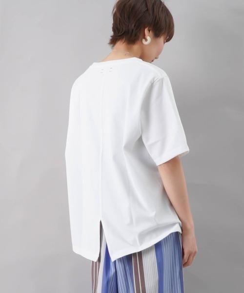 unfil(アンフィル)の「unfil アンフィル オーガニックコットン ジャージーベーシックTシャツ(Tシャツ/カットソー)」|ホワイト