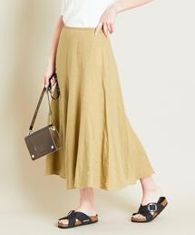 BY 麻サーキュラースカート ◆