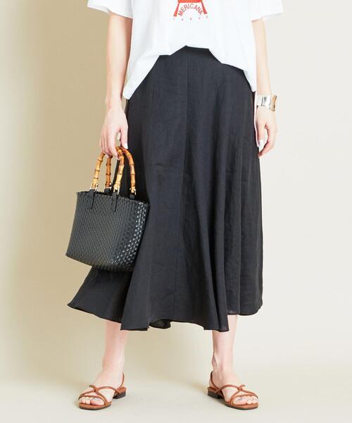 BY 麻サーキュラースカート