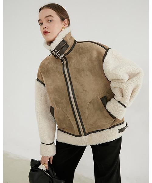 【Fano Studios】【2021AW】Boa switching fake mouton jacket FD20W097