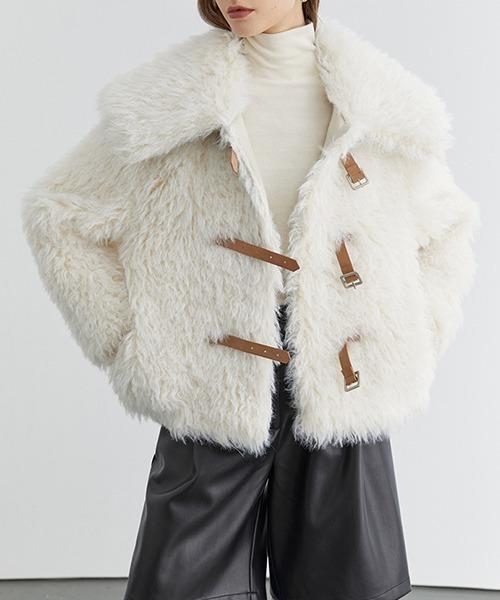 【Fano Studios】【2021AW】Big collar faux fur jacket FD20W247