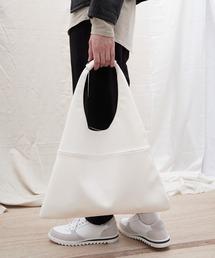 シンセティックレザー ショッパートートバッグ EMMA CLOTHESホワイト