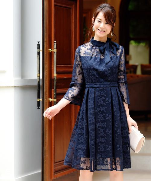 af95174afae54 RUIRUE BOUTIQUE(ルイルエブティック)のクチュールレースリボンワンピースドレス(ドレス)