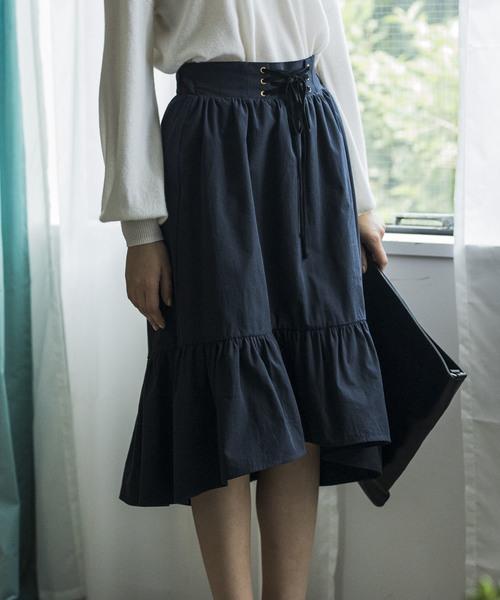 【STYLEBAR】ウエストレースアップスカート