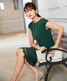 Andemiu(アンデミュウ)の【WEB限定】スソレースIラインワンピース785808(ドレス)