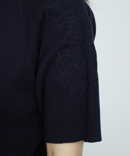 ショルダー刺繍プルオーバー