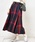 natural couture(ナチュラルクチュール)の「BIGチェックフレアスカート(スカート)」 レッド系その他