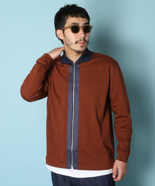 アメリカンラグシー AMERICAN RAG CIE / ラインジップポロ Lined Zip Polo Shirt