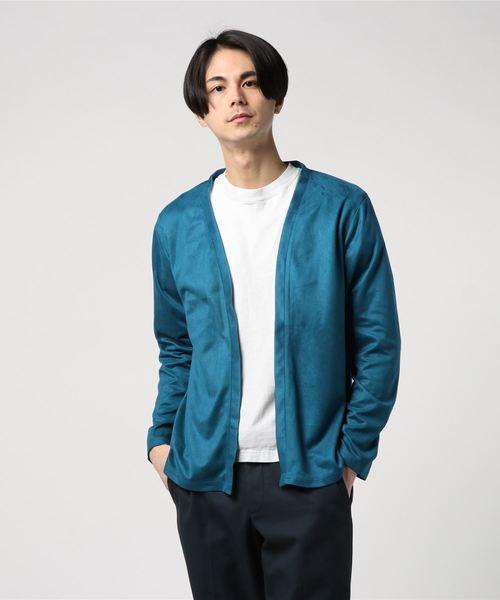 [JEANS FACTORY CLOTHES/ジーンズファクトリークローズ] ボタンレスカーディガン