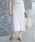 ROPE'(ロペ)の「【ドラマ着用】【セットアップ対応】オーガニックコットンリブニットスカート(スカート)」 ライトグレー