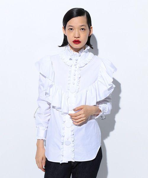 売れ筋商品 FRILL SHIRT(シャツ/ブラウス)|FACETASM(ファセッタズム)のファッション通販, OneDay online shop:15eca4bf --- ulasuga-guggen.de