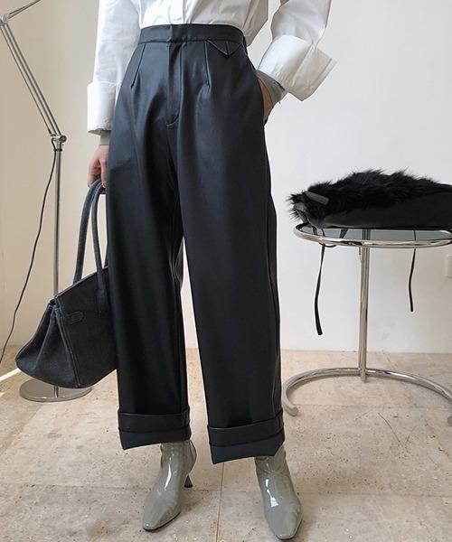 【chuclla】Leather taste wide pants sb-4 chw1375