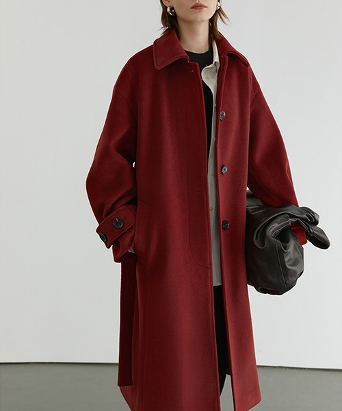 【Fano Studios】【2021AW】Fly tailored belted bal collar coat FD20W249
