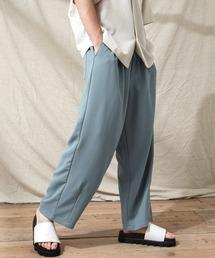 テックリネン ワイドシルエットダーツタックバルーンパンツ EMMA CLOTHES 2021S/Sブルー系その他