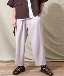 テックリネン ワイドシルエットダーツタックバルーンパンツ EMMA CLOTHES 2021S/Sパープル系その他