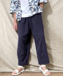 テックリネン ワイドシルエットダーツタックバルーンパンツ EMMA CLOTHES 2021S/Sネイビー