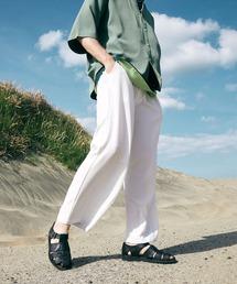 テックリネン ワイドシルエットダーツタックバルーンパンツ EMMA CLOTHES 2021S/Sホワイト