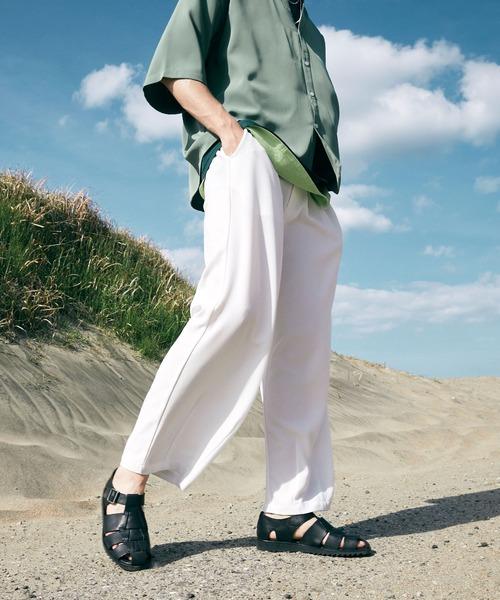 テックリネン ワイドシルエットダーツタックバルーンパンツ EMMA CLOTHES 2021SPRING