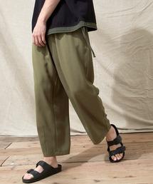テックリネン ワイドシルエットダーツタックバルーンパンツ EMMA CLOTHES 2021S/Sオリーブ