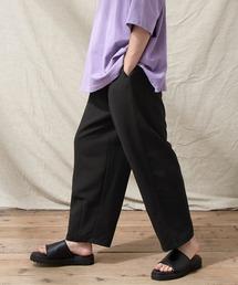 テックリネン ワイドシルエットダーツタックバルーンパンツ EMMA CLOTHES 2021S/Sブラック