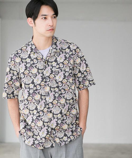CM リバティ オープンカラー 半袖シャツ ◆