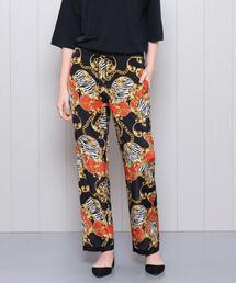<H>SCARF PRINT PANTS/パンツ