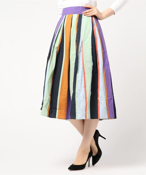 【初売り】 【セール】カラーストライプタックSK(スカート) J.FERRY(ジェイフェリー)のファッション通販, クローズCROWS-WHITEorBLACK-:b557bb02 --- rise-of-the-knights.de