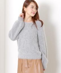 MEW'S REFINED CLOTHES(ミューズリファインドクローズ)の袖ボリュームフワニット(ニット/セーター)