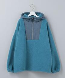 <6(ROKU)>BOA HOODED HALF ZIP PULLOVER/カットソー